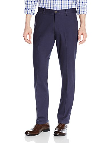 Goodthreads Men's Straight-Fit Wrinkle-Free Dress Chino Pant, Navy, 34W x 30L (Cotton Trouser Twill)