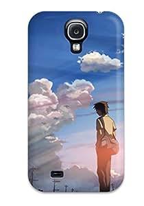 Flexible Tpu Back Case Cover For Galaxy S4 - Gantz Beautiful Anime Stress Effect by icecream design