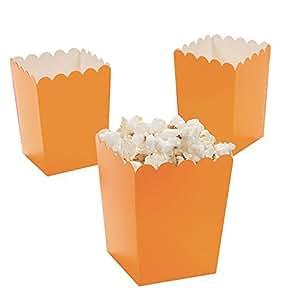 Amazon.com: Mini Popcorn Boxes - Orange - Teacher Resources & Birthday Supplies by Oriental ...