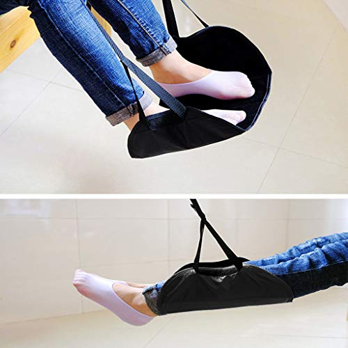 Wffo Comfy Hanger Travel Airplane Footrest Hammock Made with Premium Memory Foam Foot Great Accessory for Long Trips with Unique Base Design for Better Stability - Provides Comfort and Relaxation, Pre