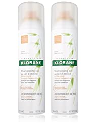 Klorane Dry Shampoo with Oat Milk Natural Tint, Duo