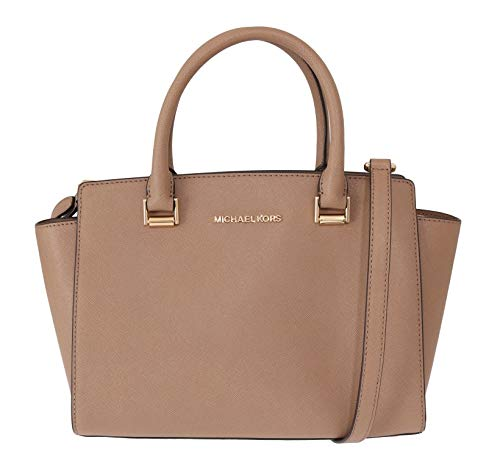 Michael Kors Women's Selma Medium Top Zip Satchel (Ballet) (Michael Kors Jet Set Monogram Signature Tote)