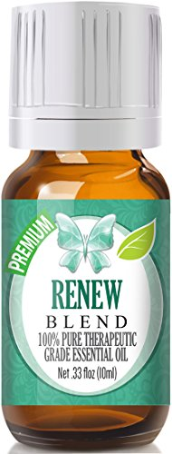 Renew Blend 100% Pure, Best Therapeutic Grade Essential Oil - 10ml - Frankincense, Tea Tree, Rosemary, Lemon, Eucalyptus & Sweet Orange