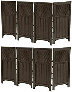 product image for Suncast 2 Pack FSW4423 Decorative Outdoor Yard Resin Wicker Screen Enclosures