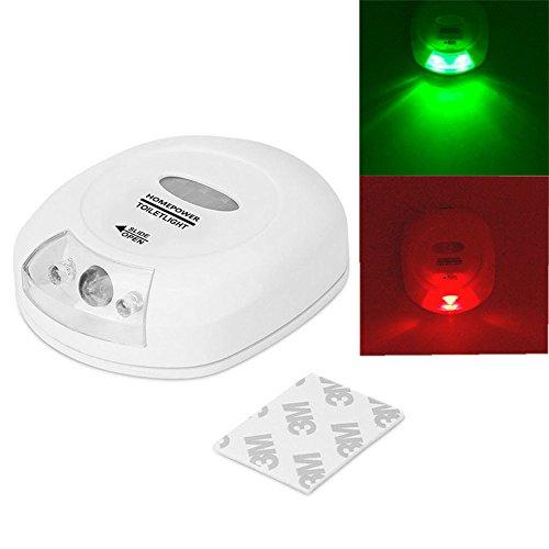 (Tharv❤Body Sensing Automatic LED Motion Sensor Night Lamp Toilet Bowl Bathroom Light White)