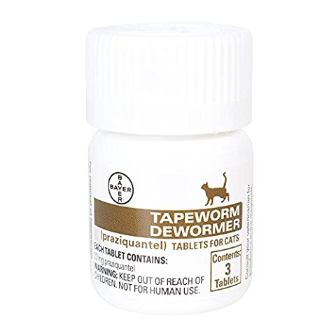 Bayer Tapeworm Dewormer Cat 3-Count, White/Brown (Bayer Cat Dewormer)
