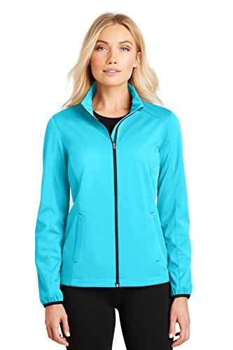 - Port Authority Ladies Active Soft Shell Jacket. L717 Light Cyan Blue 3XL