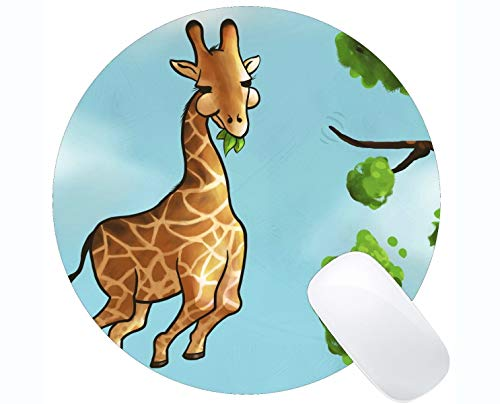 Rectangle Round Mouse Pad,Animal Sydney Australia Giraffe Rubber Mousepad Stitched Edges]()