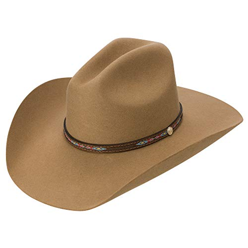 - Resistol McCoy 3X Wool Collection Felt Men's Western Cowboy Hat (7 5/8)