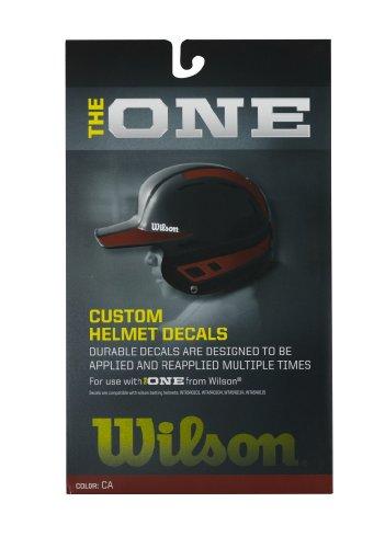 Wilson Custom Helmet Decal Kit (Cardinal)