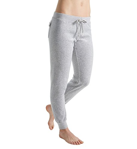 Juicy Couture Black Label Women's Velour Zuma II Track Pant, Silver Lining, M