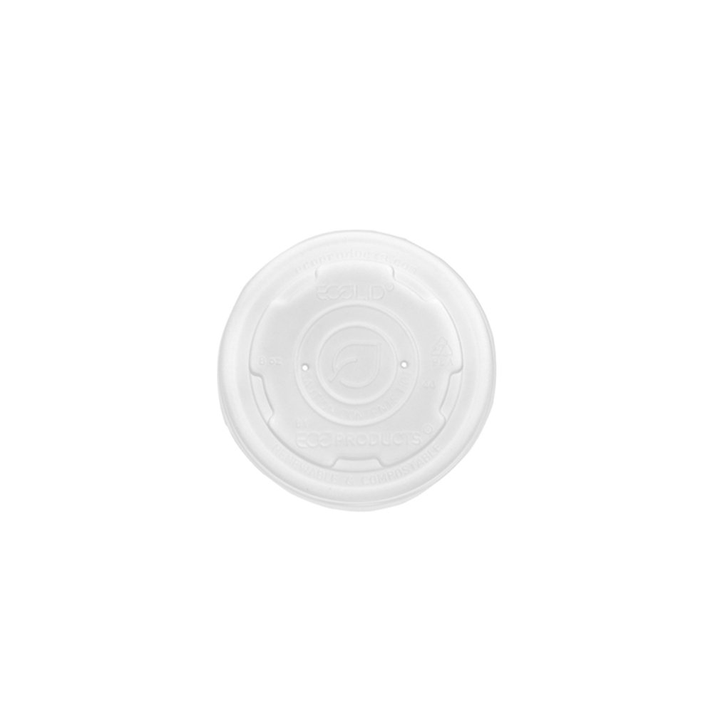 Eco-Products - Renewable & Compostable Food Container Lids - Fits 8oz. and 10oz. sizes - EP-ECOLID-SPS (20 Packs of 50)