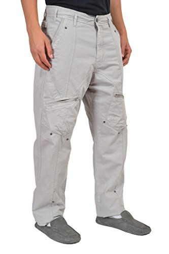john-galliano-mens-gray-multiple-pockets-cargo-pants-us-36-it-50