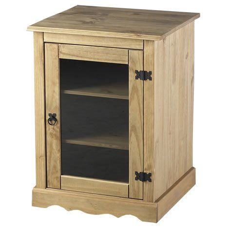 WorldStores Corona Pine Mexican Styled Hi Fi Cabinet Living Room Pine HIFI  Unit By Seconique