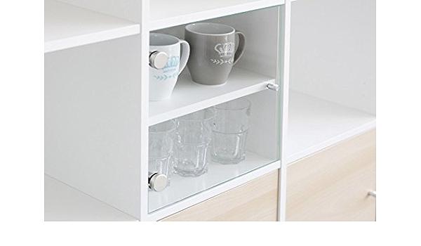 Vitrina con puerta de cristal para estantería de Ikea Kallax ...