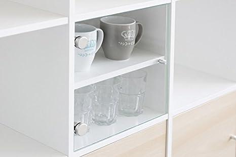 Ripiani In Legno Ikea : Vetrina inserto con porta in vetro per ikea scaffale bianco con