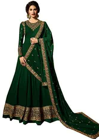 fb4470527d Delisa Indian/Pakistani Bollywood Party Wear Long Anarkali Gown for Womens  NG