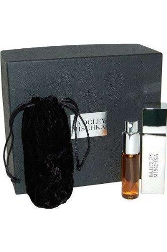 BADGLEY MISCHKA by Badgley Mischka Gift Set for WOMEN: PARFUM PURSE SPRAY .5 OZ & PARFUM REFILL SPRAY .5 OZ & SATIN POUCH
