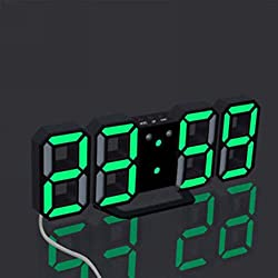 Yeefant 3 Color Digital LED Table Night Snooze Function Wall Clock Alarm Watch 24 Or 12 Hour Display for Living Room Bedroom