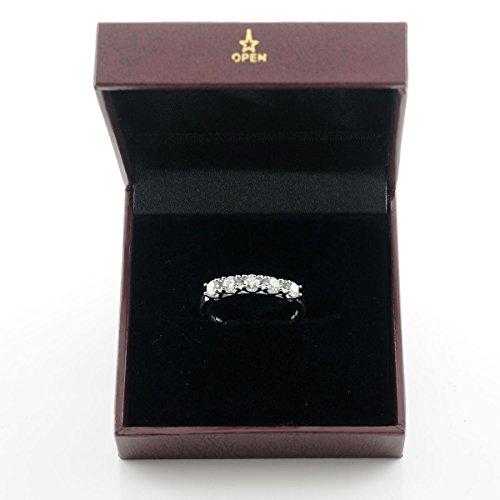 Diamond2Deal 5 Stone Diamond Wedding Ring in 14K White Gold 0.25ct Size 6 by Diamond2Deal (Image #3)