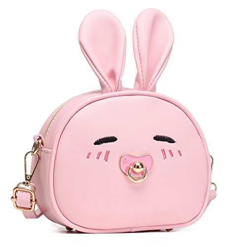 CMK Trendy Kids My First Purse for Toddler Kids Girls Cute Shoulder Bag Messenger Bags with Bunny Ear Novelty Birthday Gift (82011_Pink) by CMK Trendy Kids (Image #1)