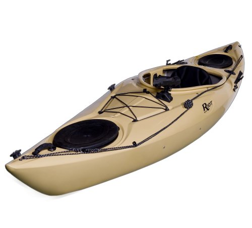 Riot Kayaks Enduro 12 Angler Flatwater Fishing Kayak (Sand, 12-Feet)