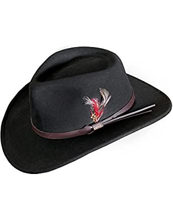 Billings Crushable Wool Waterproof Cowboy Hat, BLACK, Size SMALL (6.75-6.88)