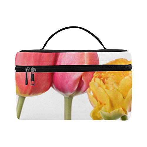 Beautiful Flourishing Tulips Pattern Lunch Box Tote Bag Lunch Holder Insulated Lunch Cooler Bag For Women/men/picnic/boating/beach/fishing/school/work ()