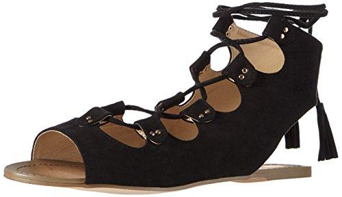 Ouvertes Suede Schwarz La Sandales Strada Look Micro Black Sandal Femme Leather 2201 Noir Black Fxwq0awf