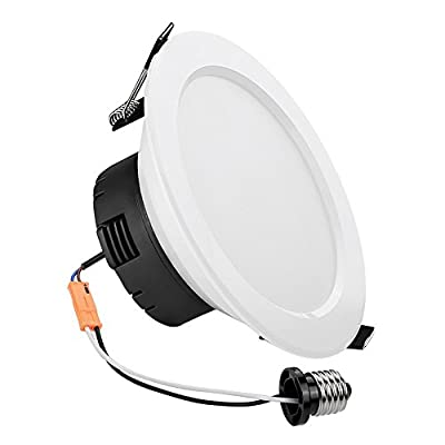 LE 12W Dimmable 4-Inch LED Retrofit Recessed Lighting, 60W Incandescent (25W Fluorescent) Bulbs Equivalent, E26 Base, 750lm, Warm White, 3000K, Recessed Ceiling Lights, Recessed Lights, LED Downlight
