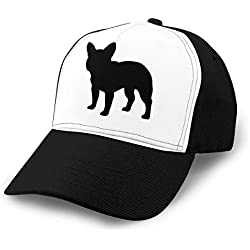 A9UBQM Baseball Cap Women Men French Bulldog Cute Puppy Adjustable Dad Hat Fashion Unisex Sports & Outdoors Caps Black