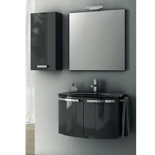 ACF ACF CD04-GA-Anthracite Cabinet/WH Sink Bathroom Vanity Set with Anthracite Cabinet/White Sink, 136.48'' L x 29.5'' W by ACF