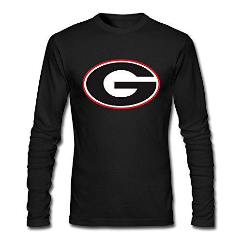 RUIFENG Men's Georgia Bulldogs Long Sleeve T-shirt Size