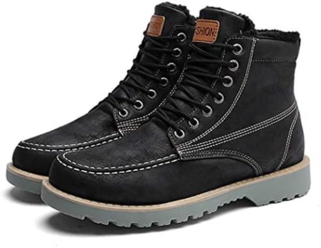 作業ブーツ 選べる内側2タイプ ムートンブーツ メンズ 靴 韓国風 歩きやすい ファッション 防寒 カジュアル ふわふわ 安全靴 アウトドア ウインターブーツ 冬シューズ 痛くない 防水 スノーブーツ ハイカット