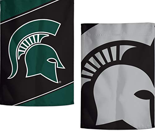 WinCraft Michigan State Spartans Garden Flag, Action Stripes and Charcoal Edition, 12.5x18 inches, 2 Sided