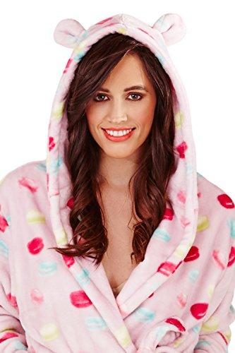 Loungeable - Bata extra suave para mujer (forro polar) Macaron Hooded