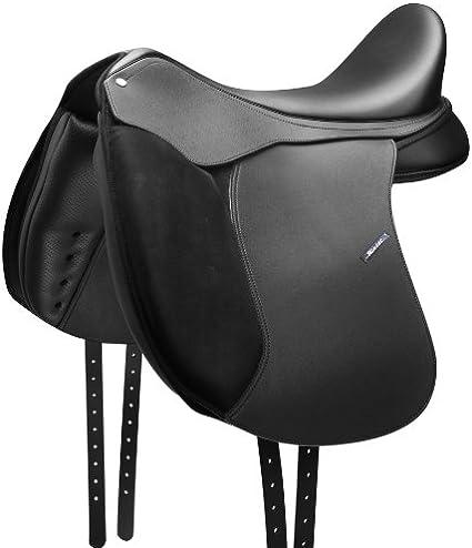 """Beautiful black Dressage Synthetic Saddle sizes 17.5/"""""""