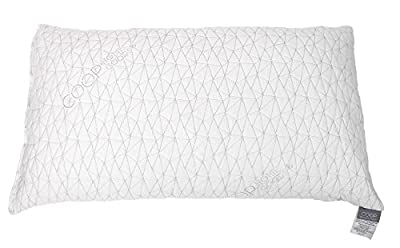 Coop Home Goods - Premium Adjustable Loft - Shredded Hypoallergenic Certipur Memory Foam Pillow with Washable Removable Cover