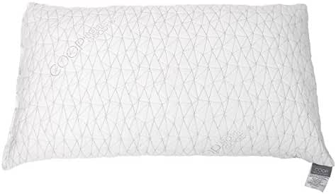 Coop Home Goods - PREMIUM Adjustable Loft - Shredded Hypoallergenic CertiPUR-US Memory Foam Pillow with signature Ultra Tech washable removable cooling bamboo derived cover - Made in USA - QUEEN