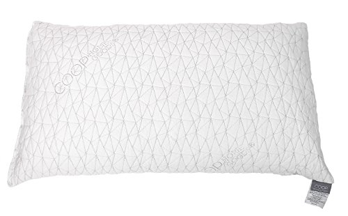 Fabric Covered Foam (Coop Home Goods Shredded Hypoallergenic Memory Foam Pillow with Removable Polyester and Bamboo Derived Vicose Rayon Cover -)