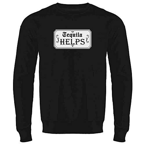 Helps Black L Mens Fleece Crew Sweatshirt ()