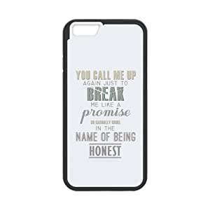 the Case Shop- Taylor Swift Quotes Singer TPU Rubber Hard Back Case Silicone Cover Skin for iPhone 6 4.7 Inch , i6xq-475