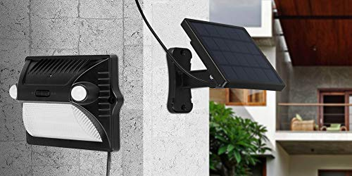 Cheap YWTESCH Solar Lights Outdoor Upgraded Dual-Headed Motion Sensor Split Solar LED Security Light, Colorful and Super Bright Waterproof for Step Patio Garden Yard Porch Garage