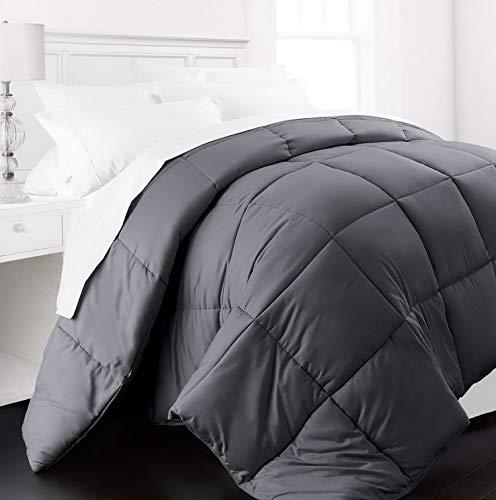 Hemau Premium New Soft - Lightweight All Season - Luxury Goose Down Alternative Comforter - Hotel Quality Comforter and Hypoallergenic -King/Cali King - Gray | Style -