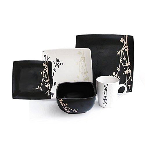 Blossom Bowl Set (American Atelier Twilight Blossom 20-piece Dinnerware Set, Service For 4)