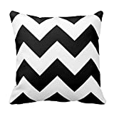 Home Style Chevron Pattern- Chevron Pillow Cover with Black and White Zigzag