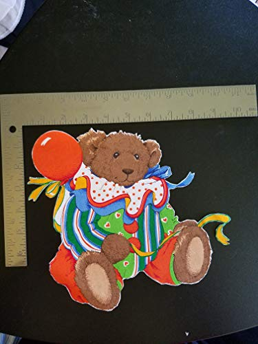 Clown Bear Iron On Applique #142