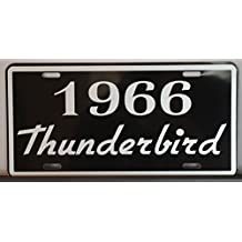 METAL LICENSE PLATE 1966 66 THUNDERBIRD T-BIRD