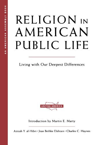 Cover of Religion in American Public Life: Living with Our Deepest Differences (American Assembly)