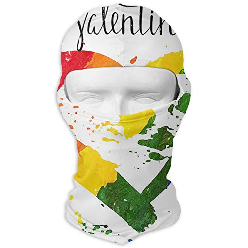 Northern Nebula Valentines Day Gay Pride Balaclava - Windproof Ski Mask - Motorcycle Full Face UV Protection Mask White -